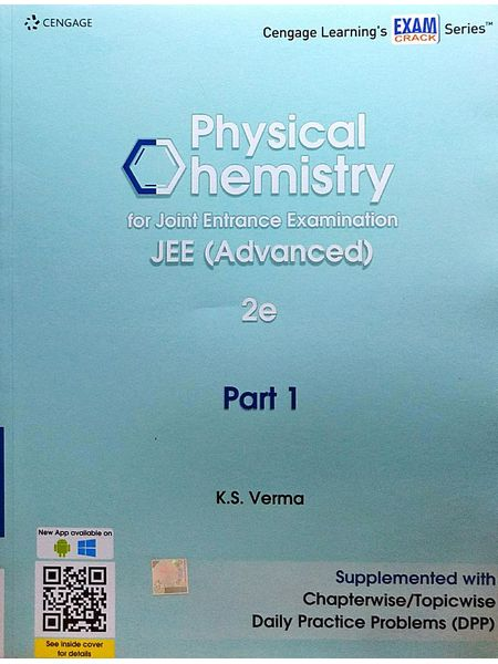 Physical Chemistry For Joint Entrance Examination Jee Advanced Part 1 By K S Verma-(English)
