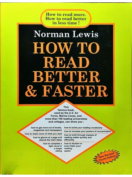 How To Read Better And Faster By Norman Lewis-(English)