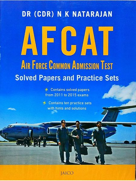 Afcat Solved Papers & Practice Sets By Dr Nk Natarajan-(English)