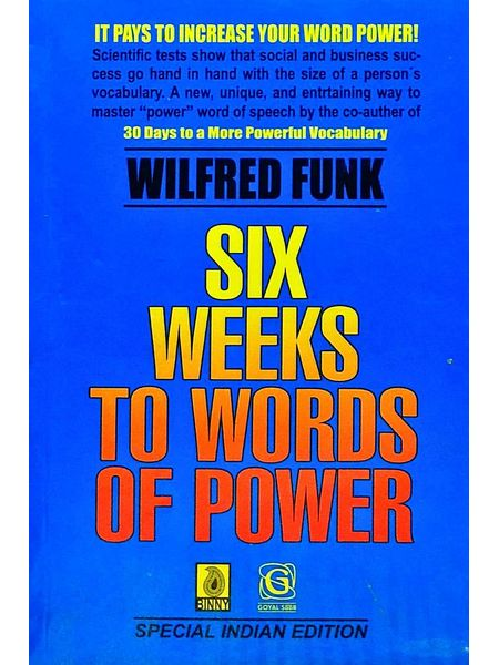 Six Weeks To Words Of Power By Wilfred Funk-(English)
