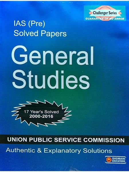 General Studies Pre Solved Papers 2000-2016 By Editorial Team-(English)