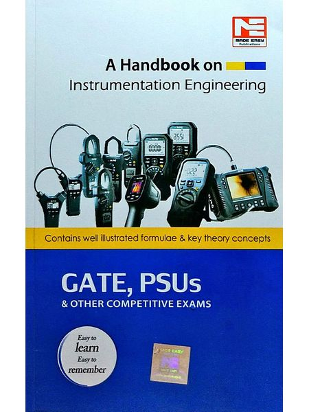 A Handbook On Instrumentation Engineering By Made Easy Experts-(English)