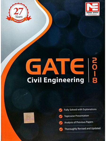 Made Easy Gate 2018 Civil Engineering Solved Papers By Made Easy Experts-(English)