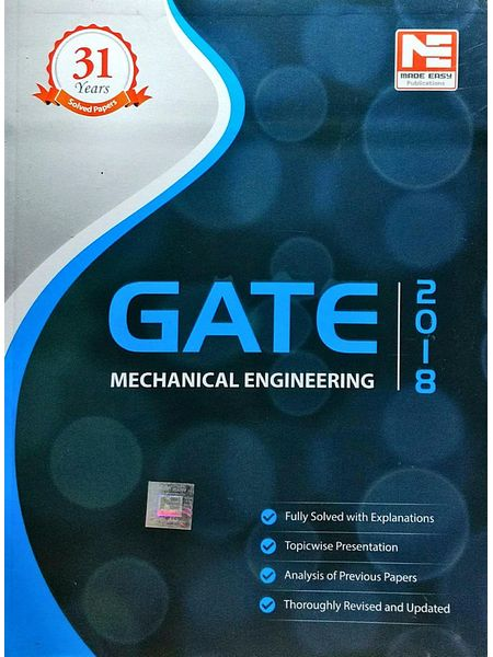 Gate 2018 Mechanical Engineering Solved Papers By Made Easy Experts-(English)
