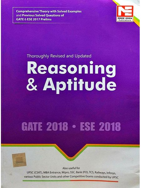 Gate 2018 Reasoning & Aptitude By Made Easy Experts-(English)