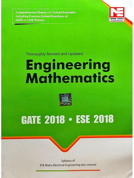 Gate 2018 Engineering Mathematics By Made Easy Experts-(English)