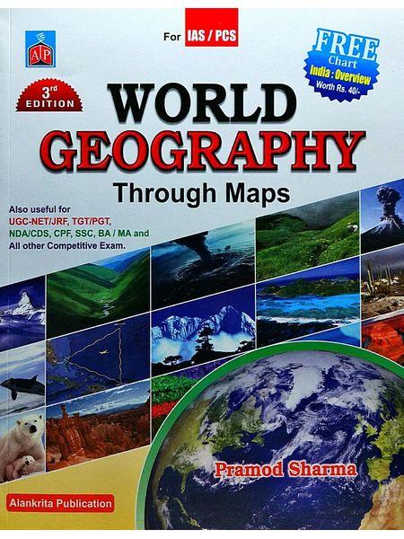 World Geography Through Maps By Pramod Sharma-(English)