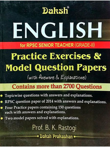 Rpsc English Grade 2 Practice Exercises & Model Question Papers By Prof B K Rastogi-(English)