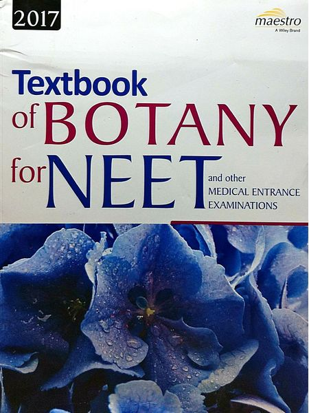 Textbook Of Botany For Neet And Other Medical Entrance Examinations 2017 By Editorial Team-(English)