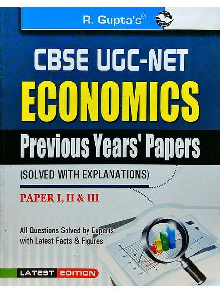 Cbse-Ugc-Net Economics Previous Papers 1,2,3 By Sanjay Kumar-(English)