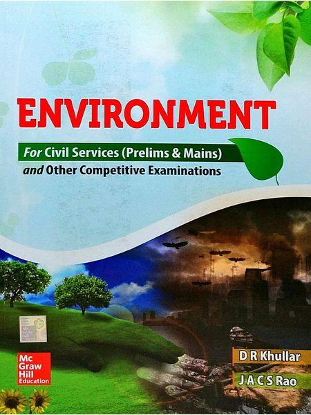 Environment By Dr Khullar, J A C S Rao-(English)