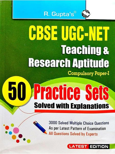 Cbse-Ugc-Net Teaching & Research Aptitude 50 Practice Sets Solved With Explanations Paper 1 By Rph Editorial Board-(English)