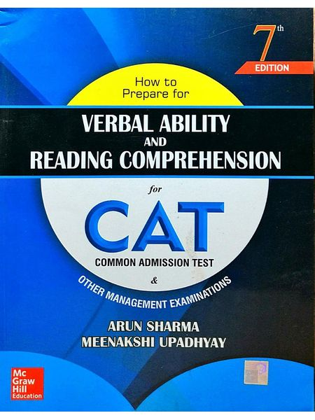 How To Prepare For Verbal Ability And Reading Comprehension For Cat By Arun Sharma, Meenakshi Upadhyay-(English)