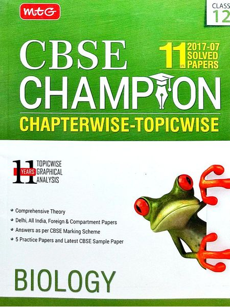 11 Years Cbse Champion Chapterwise-Topicwise Biology By Mtg Editorial Board-(English)