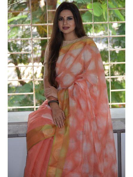 Clamp Dyed Cotton Saree