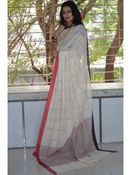 Soft Cotton Handloom Saree