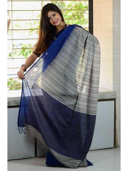 Soft khadi Cotton Ghicha Handloom Saree