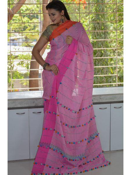 Pure Handloom Khesh Cotton Saree