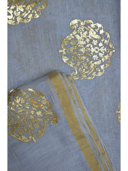 "100% Jute Organic Khadi Silk ""Khadi"" Printed Fabric ( To buy a quantity of 1.5,2.5,3.5 please call us on 9930655009)"