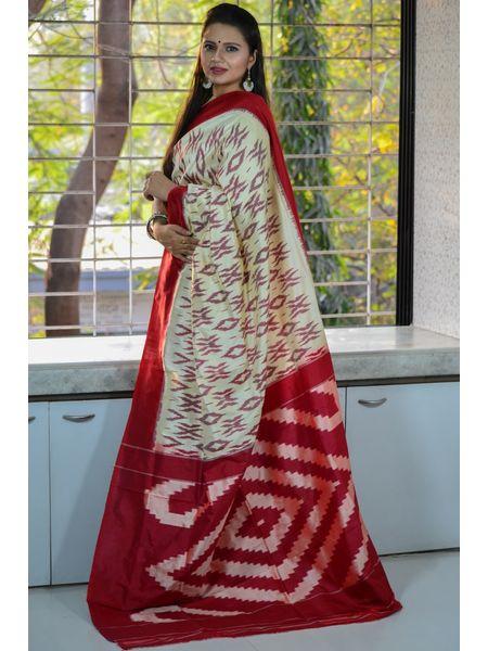 Pure Silk Ikat Pochampally Saree