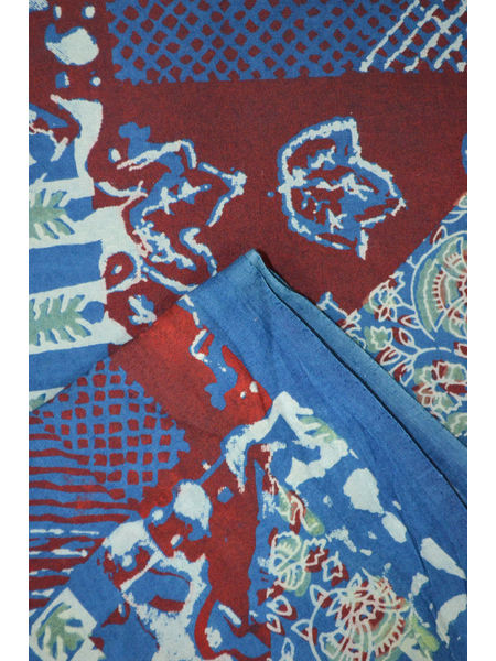 Pure Mercerised Cotton Double Ikat Fabric ( To buy a quantity of 1.5, 2.5,3.5 please call us on 9930655009)