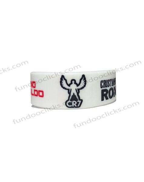 Imported Cristiano Ronaldo CR7 White Color Silicone Wrist Band