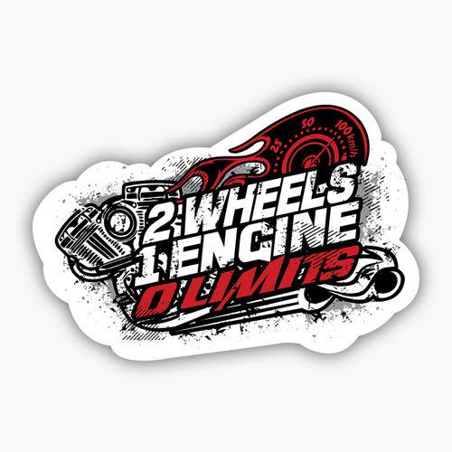 2 wheels 1 engine 0 limits sticker