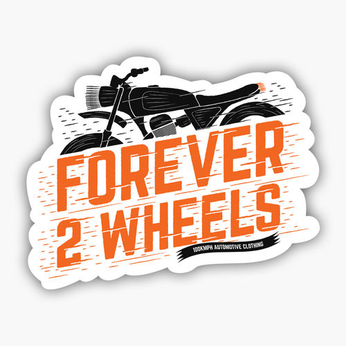 Forever 2 wheels sticker