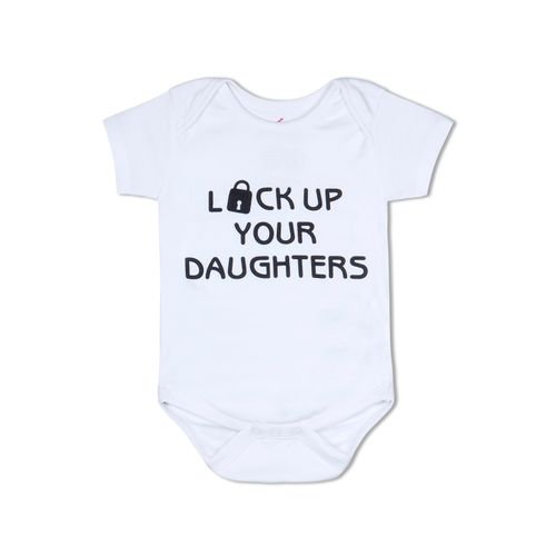 Lock up You Daughters - Organic cotton romper
