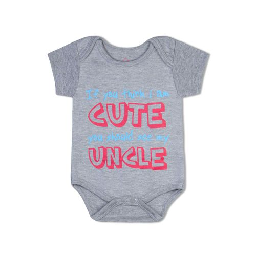 If you think I am cute , see my uncle  - Organic cotton romper