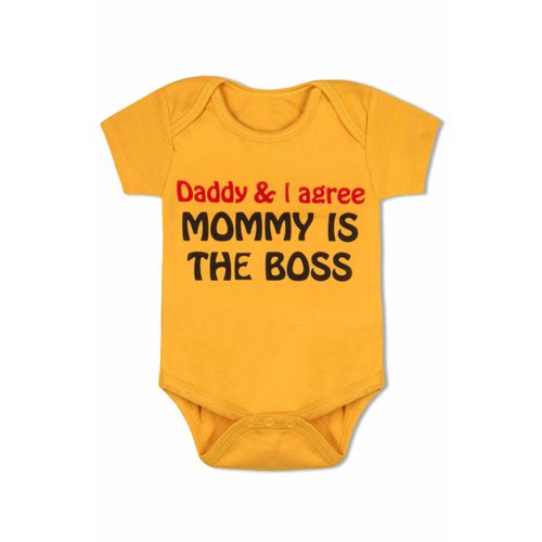 Daddy & I agree Mommy is the Boss - Organic cotton romper