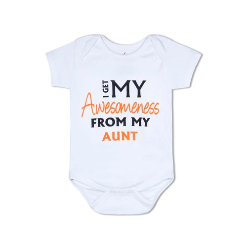 I Get my Awesomeness from My Aunty - Organic cotton romper