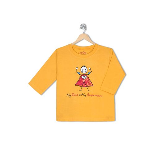 My Dad = Superhero - Organic cotton tee for toddlers