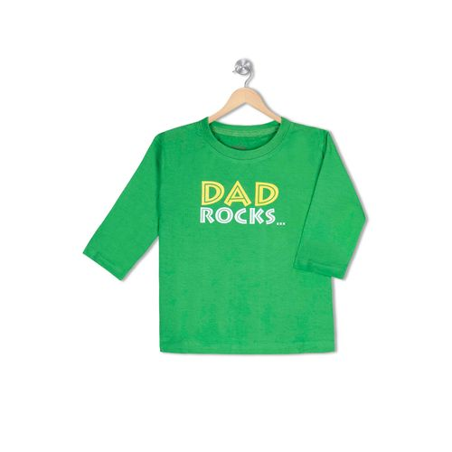 Dad Rocks …But Mom Rules( on the back) - Organic cotton tee for toddlers