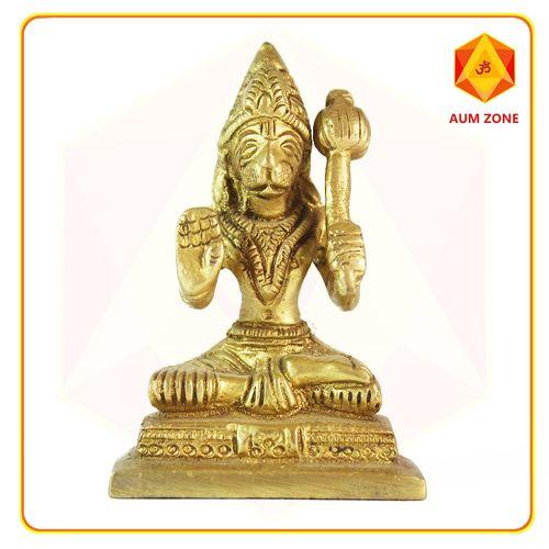 Hanuman Sitting Brass Murthi