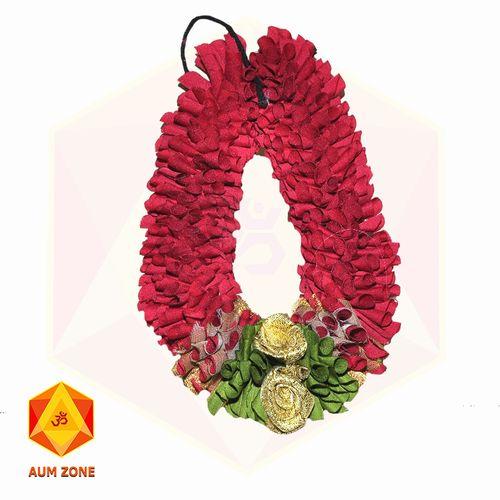 Red Flower Garland With flower bunch