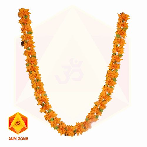Orange flower Garland with leaves