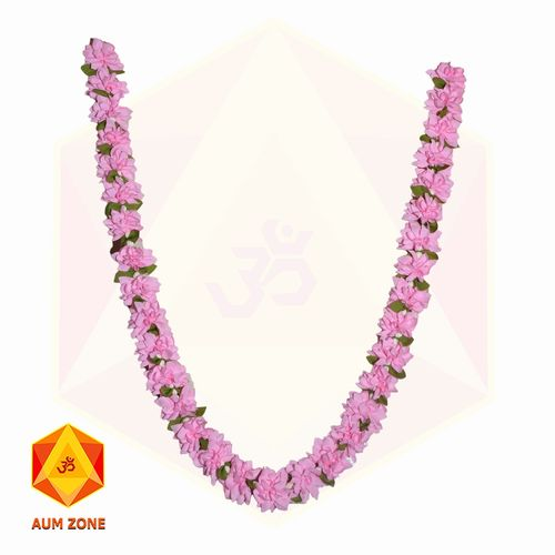 Pink flower Garland with leaves