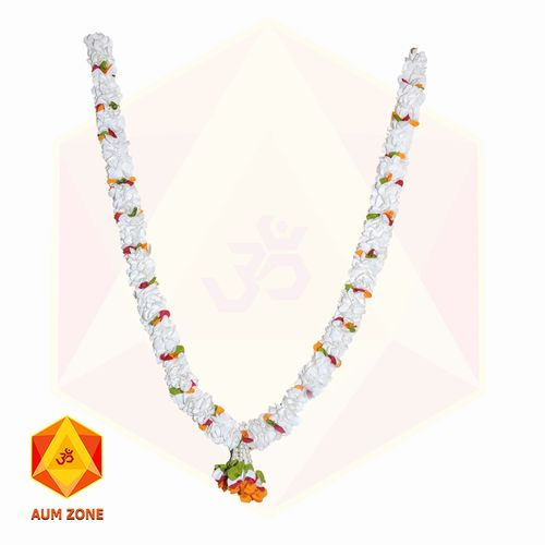 White Flower Garland With multi color flower partition