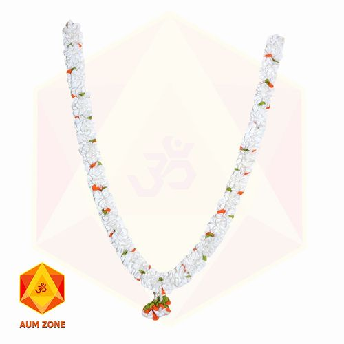 White Flower Garland With Two color flower partition