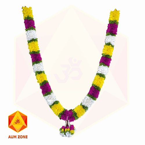 Yellow with Purple and White Flower and Bunch Garland