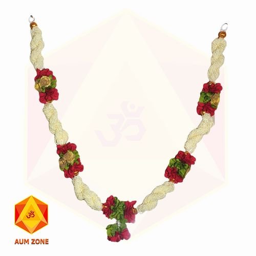 Bead Garland With Golden Flower and Leaf