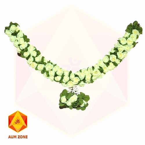Green Flower with leaf Garland Small