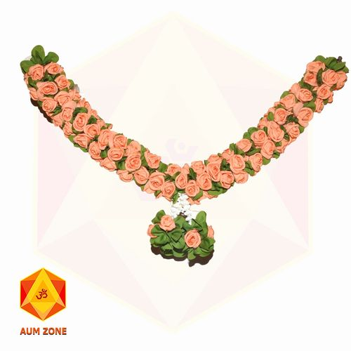 Orange Flower with leaf Garland Small