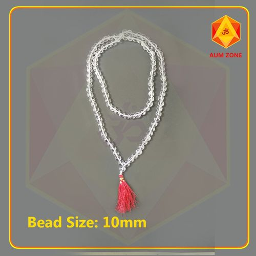 Natural Sphatik Mala A 10 mm (108 + 1 Beads)