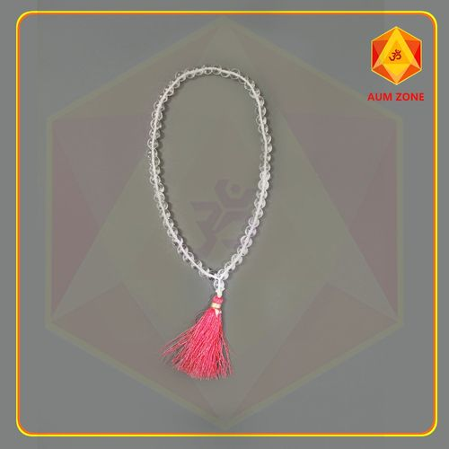 Natural Sphatik Mala A 10 mm (54 + 1 Beads)