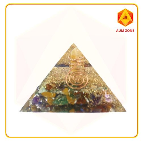 Chakra Orgone Pyramid with crystal point