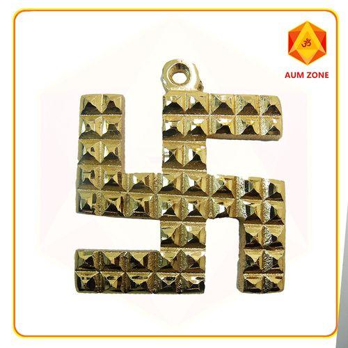 Swastik Pyramid Yantra In Brass