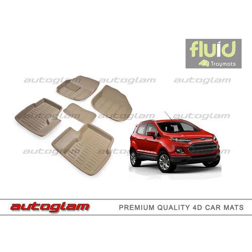 AGF4DM302 FLUID Premium 4D Mats For FORD ECOSPORT Beige