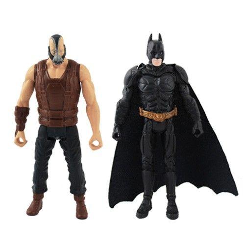 The Dark Knight Rises ARKHAM CITY Batman & Bane Movable Action Figure Set